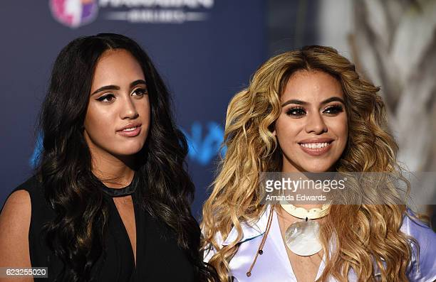 Simone Alexandra Johnson and singer Dinah Jane Hansen arrive at the AFI FEST 2016 Presented By Audi premiere of Disney's 'Moana' at the El Capitan...