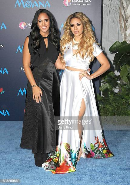 Simone Alexandra Johnson and singer Dinah Jane Hansen of Fifth Harmony attend AFI FEST 2016 Presented By Audi Premiere of Disney's 'Moana' at the El...