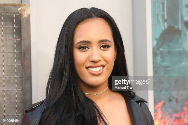 Simone Alexandra Johnson arrives to the Los Angeles premiere of Warner Bros Pictures' 'Rampage' held at Microsoft Theater on April 4 2018 in Los...