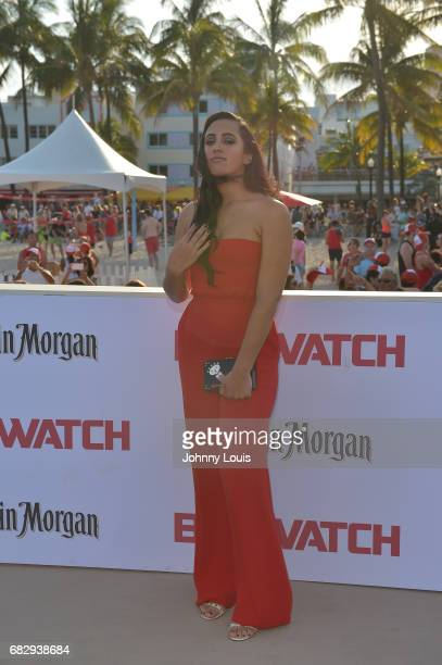 Simone Alexandra Johnson attends Paramount Pictures' World Premiere of 'Baywatch' on May 13 2017 in Miami Beach Florida