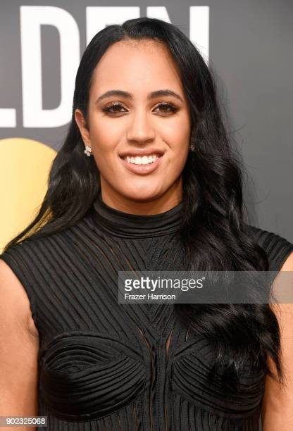 Simone Alexandra Johnson attends The 75th Annual Golden Globe Awards at The Beverly Hilton Hotel on January 7 2018 in Beverly Hills California