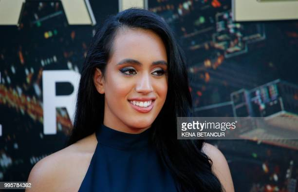 Simone Alexandra Johnson attends the premiere of 'Skyscraper' on July 10 2018 in New York City