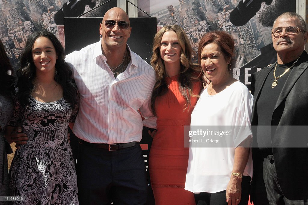 "Dwayne ""The Rock"" Johnson Immortalized With Hand And Footprint Ceremony : News Photo"