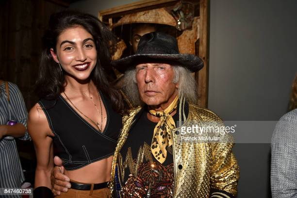 Simone Aptekman and James Goldstein attend IV New York Gallery Grand Opening Exhibition on September 14 2017 in New York City
