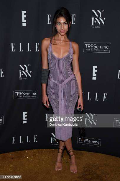 Simone Aptekman attends the E ELLE and IMG NYFW kickoff party hosted by TRESemmé on September 04 2019 in New York City