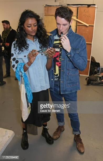 Simone Ashley and Connor Swindells attend the House of Holland AW19 London Fashion Week catwalk show showcasing the limitededition Vype ePen 3 /...