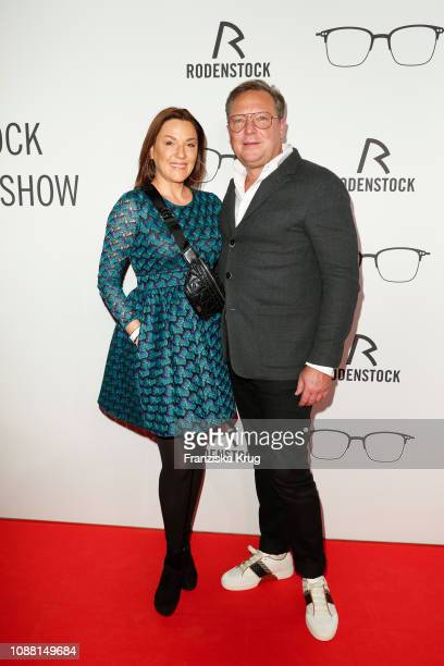 Simone Ballack and Oliver Kastalio during the Rodenstock Eyewear Show 'A New Vision of Style' at Isarforum on January 24 2019 in Munich Germany
