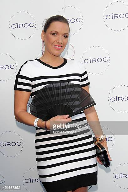 Simone Ballack attends the CIROC VODKA Masquerade Night at Heart on July 3 2014 in Munich Germany