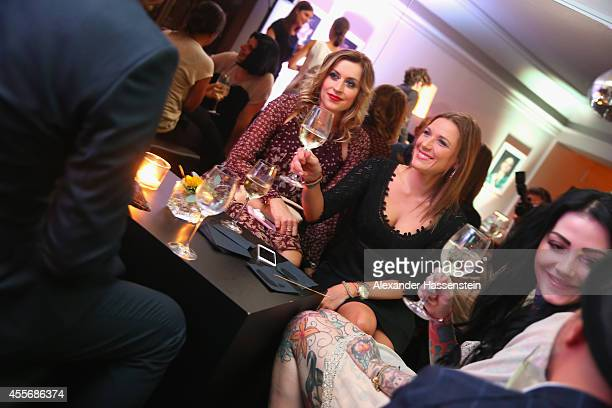Simone Ballack attends with Verena Kerth the Getty Images Hearts You event at Heart on September 18 2014 in Munich Germany
