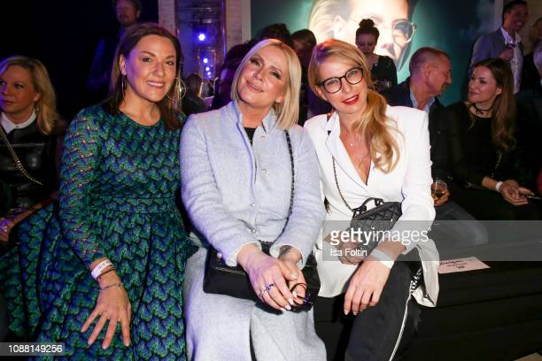 Simone Ballack, Claudia Effenberg and Giulia Siegel during the Rodenstock Eyewear Show 'A New Vision of Style' at Isarforum on January 24, 2019 in...