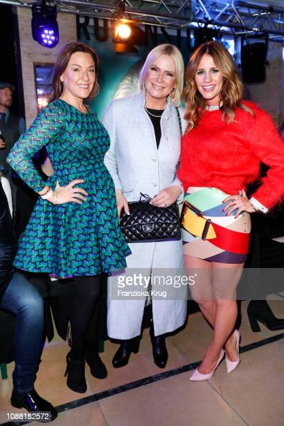 Simone Ballack, Claudia Effenberg and Mareile Hoeppner during the Rodenstock Eyewear Show 'A New Vision of Style' at Isarforum on January 24, 2019 in...