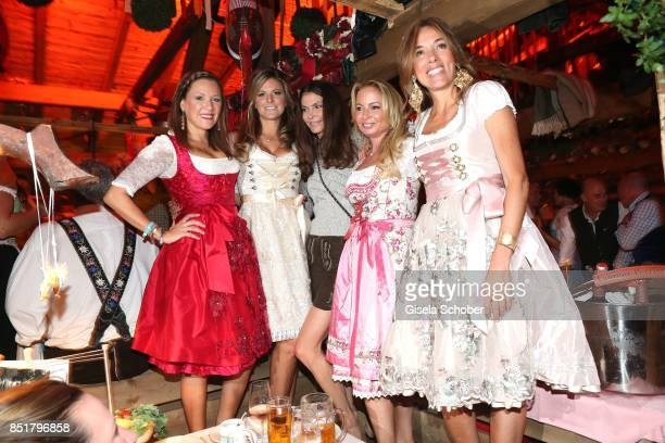 Simone Ballack Natalie Lefevre Andrea Dibelius Carol Ascher Silvia Bruttini during the Oktoberfest at Kaefer Schaenke Theresienwiese on September 22...