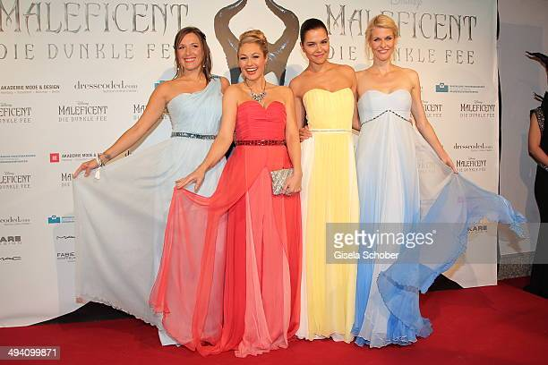 Simone Ballack Ruth Moschner Susann Hoecke and Natascha Gruen attend the Fashion Meets Movie gala screening of 'Maleficent' at Gloria Palast on May...