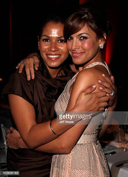 Simone Bent and actress Eva Mendes attend The Art of Elysium 2nd Annual Heaven Gala held at Vibiana on January 10 2009 in Los Angeles California