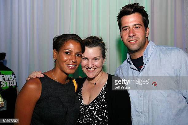 DENVER AUGUST 28 **EXCLUSIVE COVERAGE** Simone Bent Vanity Fair West Coast Editor Krista Smith and Troy Garity attend the party hosted by Google and...