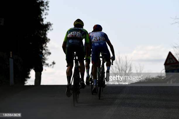 Simone Bevilacqua of Italy and Team Vini Zabu' Brado KTM & Rudy Molard of France and Team Groupama - FDJ during the Eroica - 15th Strade Bianche...