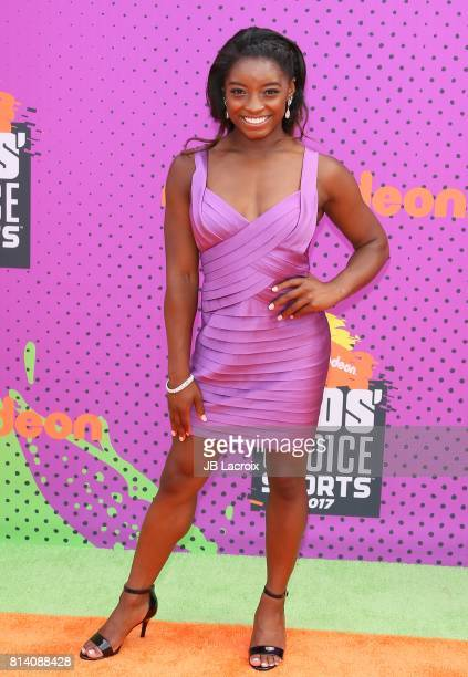 Simone Biles attends the 2017 Nickelodeon Kids' Choice Sports Awards at Pauley Pavilion on July 13, 2017 in Los Angeles, California.
