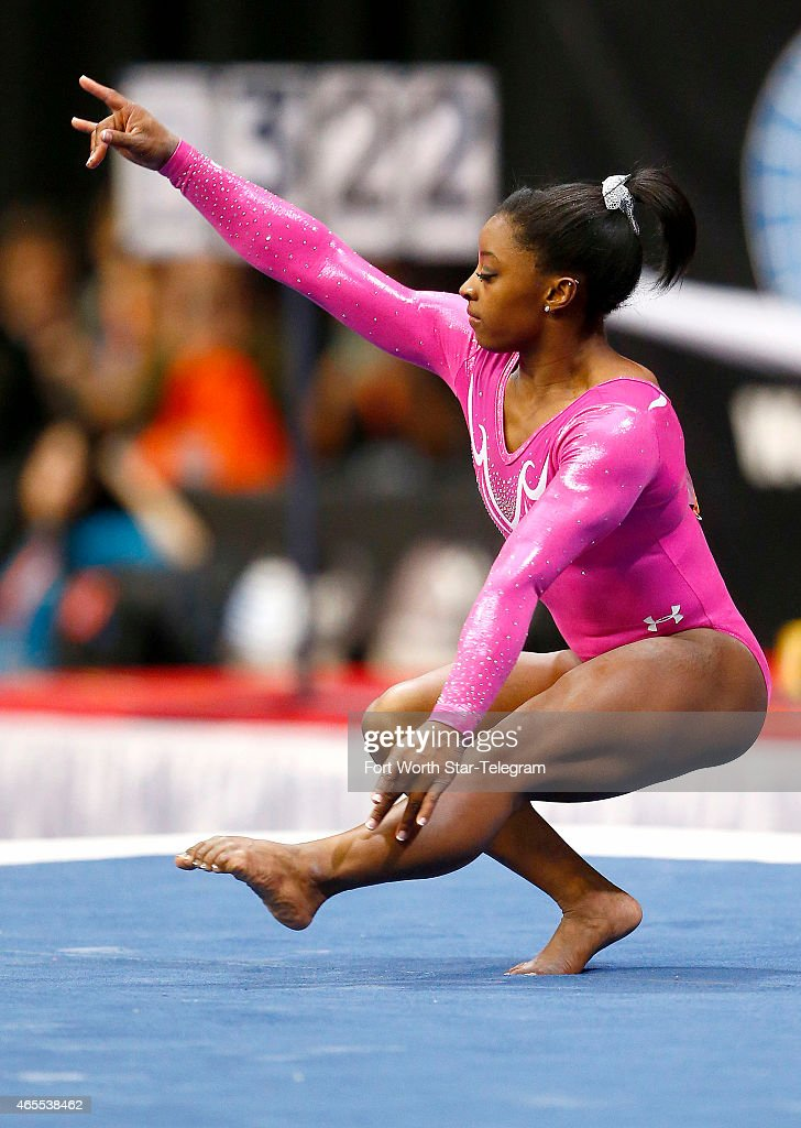 Simone Biles Of The United States Competes During The