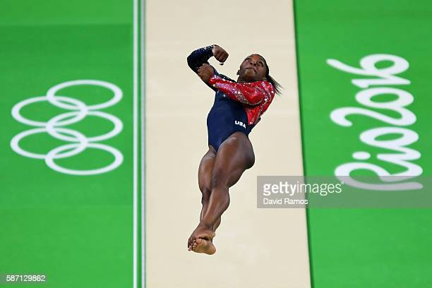 Simone Biles of the United States competes on the vault during Women's qualification for Artistic Gymnastics on Day 2 of the Rio 2016 Olympic Games...