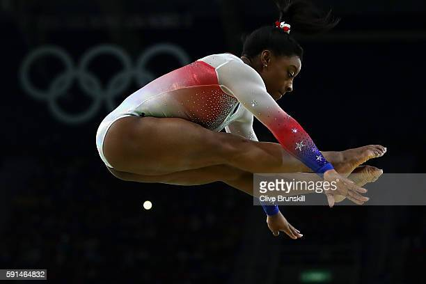Simone Biles of the United States performs on the beam during the Gymnastics Rio Gala on Day 12 of the 2016 Rio Olympic Games on August 17, 2016 in...