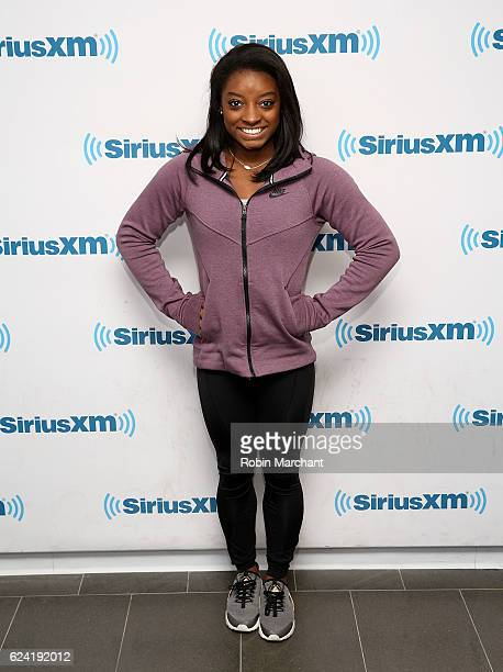 Simone Biles visits at SiriusXM Studio on November 18 2016 in New York City