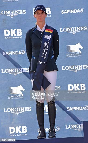Simone Blum during the Global Jumping at Longines Global Champions Tour at Sommergarten unter dem Funkturm on July 29 2017 in Berlin Germany