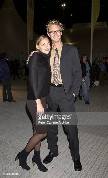 Simone Bosman and Justin Hemmes arrive for the opening night of the Cirque du Soleil production of 'Alegria' under the Grand Chapiteau at Moore Park...