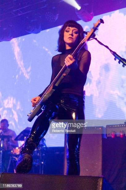 Simone Butler of Primal Scream performs on stage at Barrowland Ballroom on December 17, 2019 in Glasgow, Scotland.