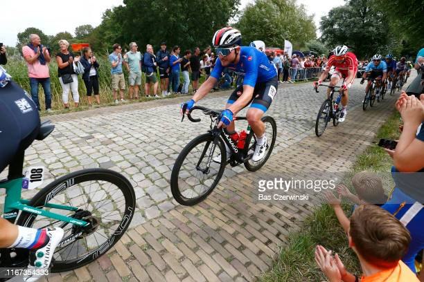 Simone Consonni of Italy / Cobblestones / Fans / Public / during the 25th UEC Road European Championships 2019 - Elite Men's Road Race a 172,6km race...