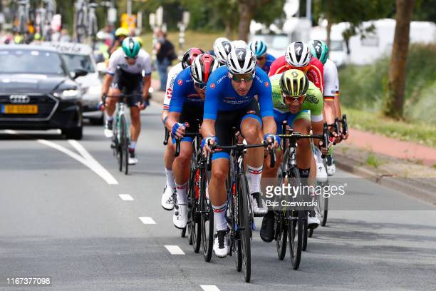 Simone Consonni of Italy / Elia Viviani of Italy / Luka Mezgec of Slovenia / during the 25th UEC Road European Championships 2019 - Elite Men's Road...