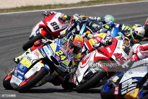 Simone Corsi and Tetsuta Nagashima during the Moto 2 GP Catalunya Moto GP, on 17th June in Barcelona, Spain. --