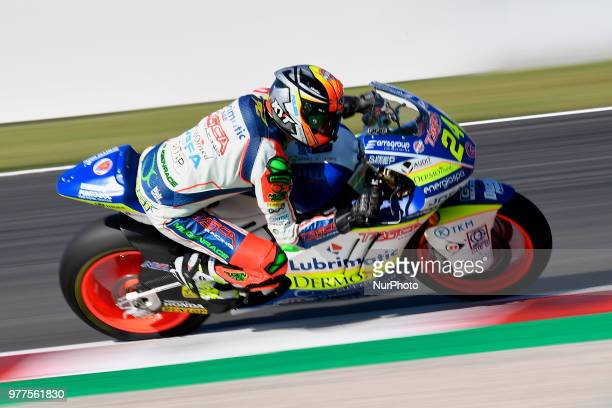 Simone Corsi of Italy and Tasca Racing Scuderia Moto2 Kalex during the race day of the Gran Premi Monster Energy de Catalunya Circuit of Catalunya...