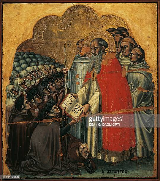 Simone dai Crocifissi , Saint Bernard of Clairvaux Promulgating the Rule.