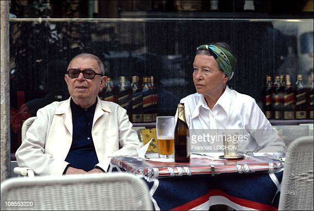 Simone de Beauvoir and JeanPaul Sartre in Rome Photo Francois Lochon in Paris France on April 14th 1986