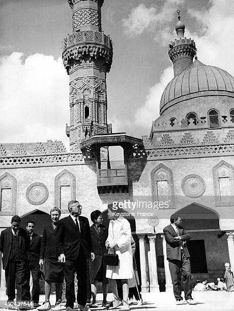 Simone de Beauvoir and JeanPaul Sartre visiting the AlAzhar university 1967 in Cairo Egypt