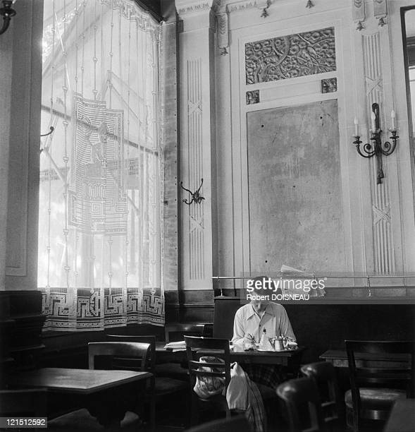 Simone De Beauvoir At The Deux Magots SaintGermain Des Pres In 1944 Paris