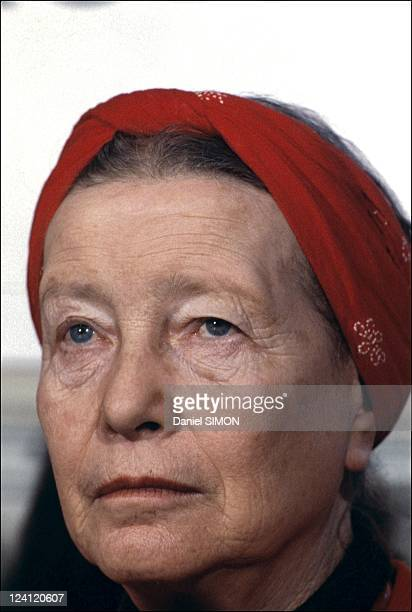 Simone de Beauvoir in Paris France on April 14 1986