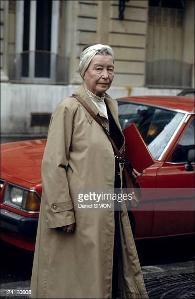 Simone de Beauvoir in Paris France on April 14 1986