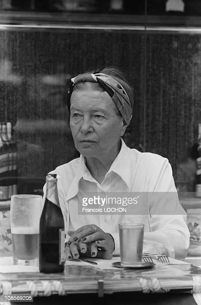 Simone de Beauvoir in Rome Italy in September 1978