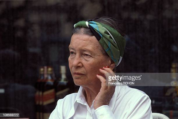 Simone de Beauvoir in Rome Italy in September 1978