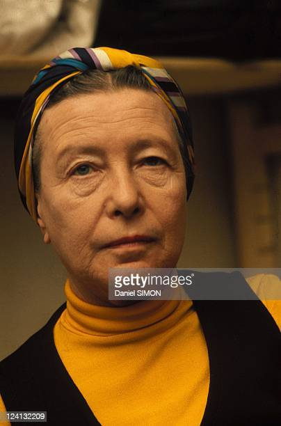Simone de Beauvoir portraits In France In 1974