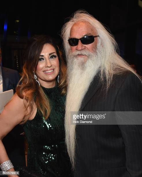 Simone De Staley and singersongwriters William Lee Golden of The Oak Ridge Boys attends the Country Music Hall Of Fame And Museum Hosts Medallion...