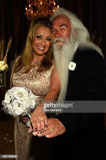 Simone De Staley and the Oak Ridge Boys' William Lee Golden get married on August 29 2015 at The Rosewall in Nashville Tennessee