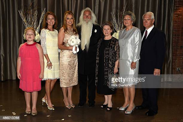 Simone De Staley William Lee Golden and Family during The Oak Ridge Boys' William Lee Golden Weds Simone De Staley on August 29 2015 at The Rosewall...