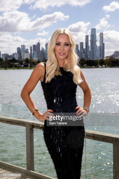 Simone Elliott attends the cast announcement for The Real Housewives of Melbourne season 5 on April 14, 2021 in Melbourne, Australia.