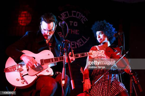 Simone Felice and Simi Stone of The Simone Felice Group performs on stage at Brudenell Social Club on April 30 2012 in Leeds United Kingdom