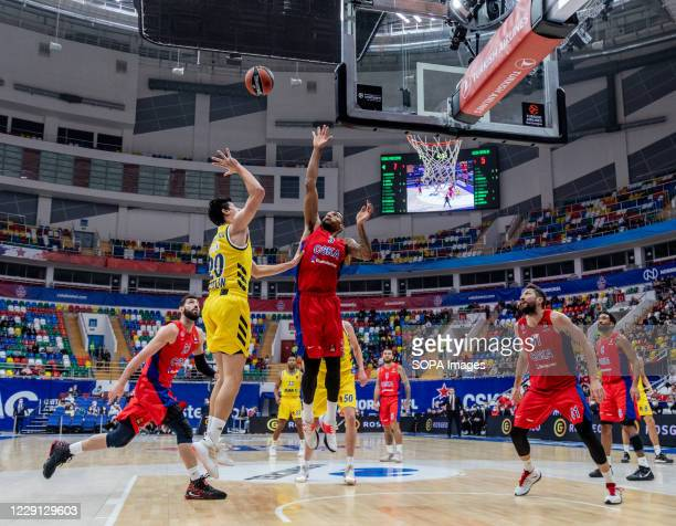 Simone Fontecchio #20 of Alba Berlin in action against CSKA Moscow during the Turkish Airlines EuroLeague Round 4 of 20202021 season at the Megasport...