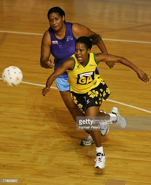 Simone Forbes of Jamaica in action during the 2007 Netball World Championship pool C match between Jamaica and Fiji at The Trusts Stadium on November...