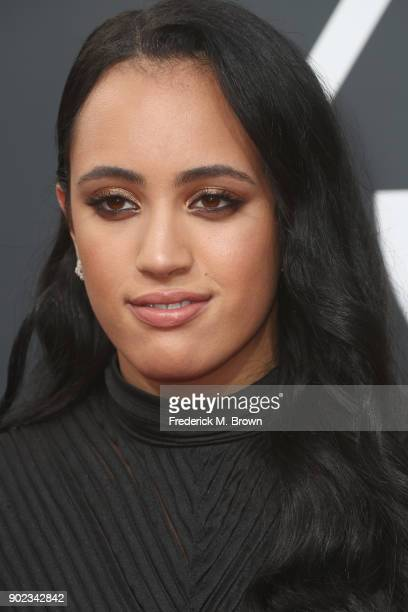 Simone Garcia Johnson attends The 75th Annual Golden Globe Awards at The Beverly Hilton Hotel on January 7 2018 in Beverly Hills California