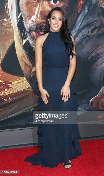 Simone Garcia Johnson attends the 'Skyscraper' New York premiere at AMC Loews Lincoln Square on July 10 2018 in New York City